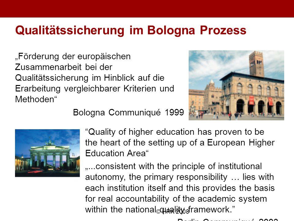 Name des Autors© HRK 2008 Qualitätssicherung im Bologna Prozess Förderung der europäischen Zusammenarbeit bei der Qualitätssicherung im Hinblick auf d
