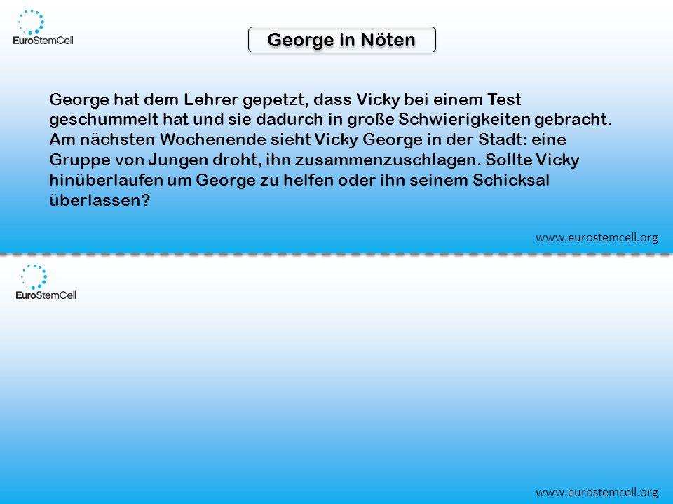 George in Nöten George hat dem Lehrer gepetzt, dass Vicky bei einem Test geschummelt hat und sie dadurch in große Schwierigkeiten gebracht.