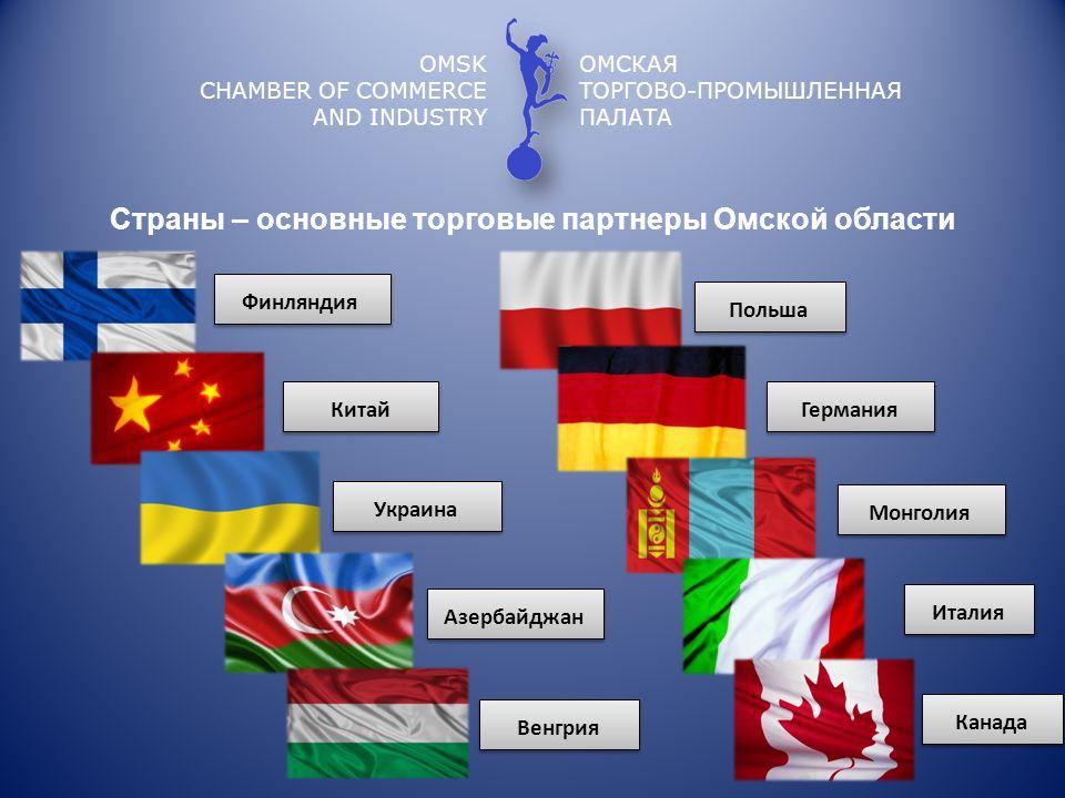 OMSK CHAMBER OF COMMERCE AND INDUSTRY ОМСКАЯ ТОРГОВО-ПРОМЫШЛЕННАЯ ПАЛАТА Финляндия Китай Польша Венгрия Германия Италия Монголия Украина Азербайджан С