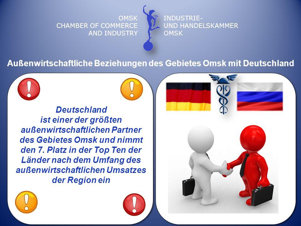 OMSK CHAMBER OF COMMERCE AND INDUSTRY INDUSTRIE- UND HANDELSKAMMER OMSK Außenwirtschaftliche Beziehungen des Gebietes Omsk mit Deutschland Deutschland