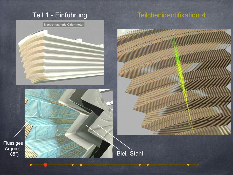 Teil 1 - Einführung Blei, Stahl Flüssiges Argon (- 185°) Teilchenidentifikation 4