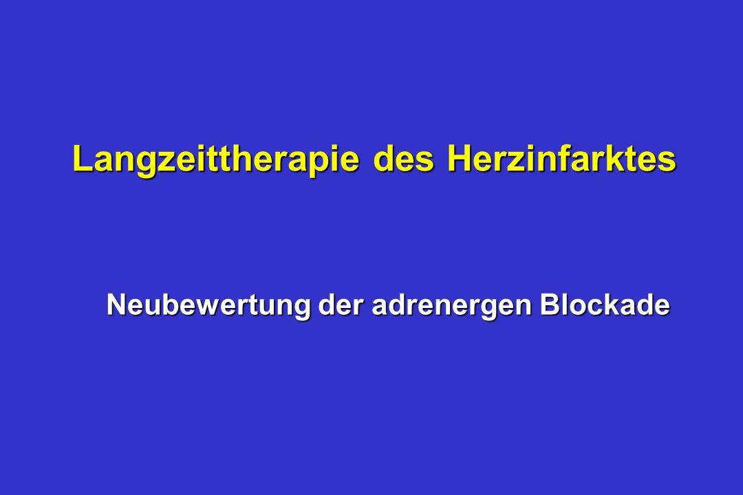 Langzeittherapie des Herzinfarktes Neubewertung der adrenergen Blockade