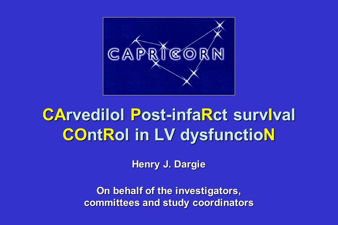 nSignifikante Reduktion der Wanddicke gegenüber dem Infarktareal mit Carvedilol gegenüber Placebo (p=0.01) nSignifikante Reduktion der LV-Masse mit Ca