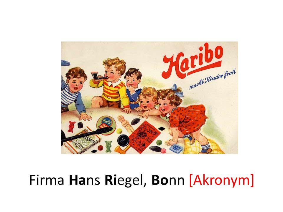 Firma Hans Riegel, Bonn [Akronym]