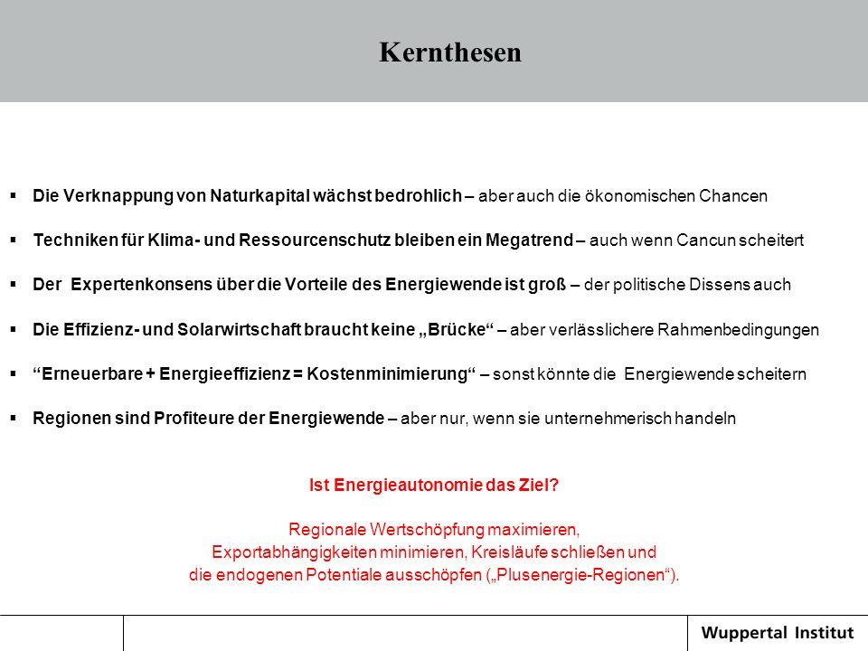 Eine machbare Vision : Die 2000Watt/Kopf Gesellschaft 16.05.2014 Quelle: Literaturliste des Wuppertal Instituts