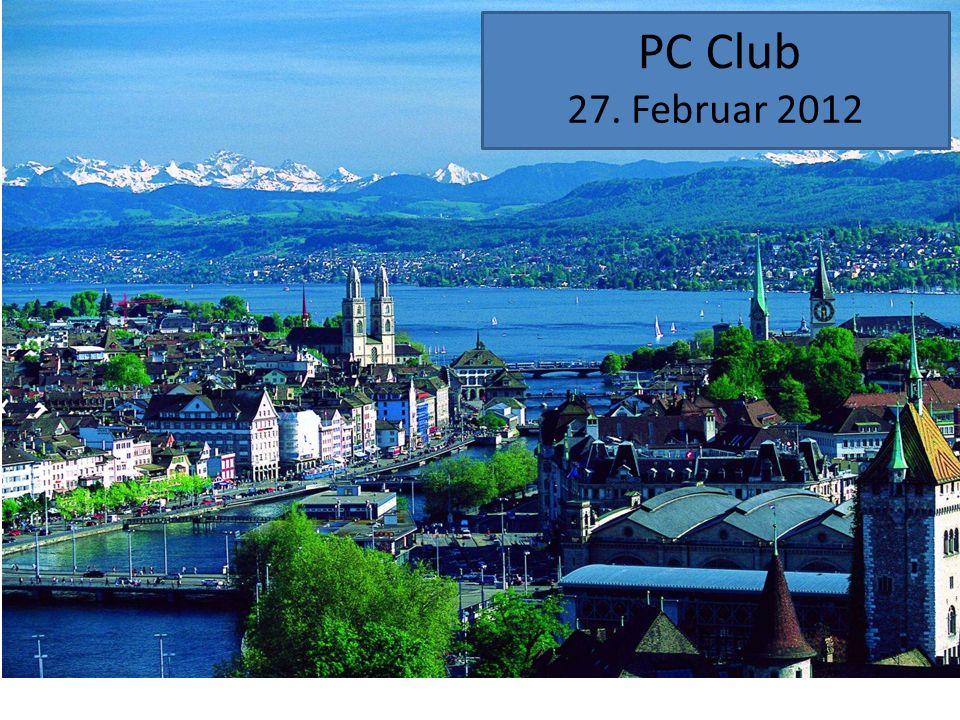 Nächster PC Club 26. März 2012