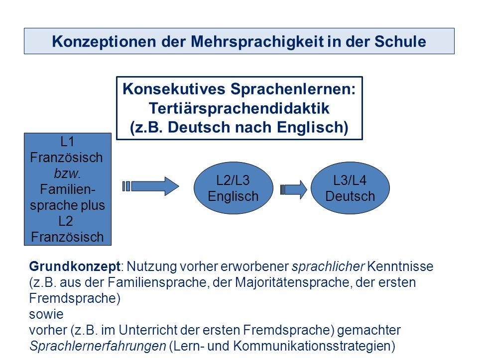 Simultanes Sprachenlernen: Sprachenübergreifender Unterricht Konzeptionen der Mehrsprachigkeit in der Schule