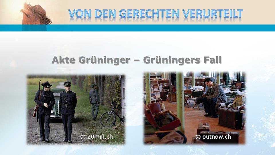 Akte Grüninger – Grüningers Fall © 20min.ch© outnow.ch