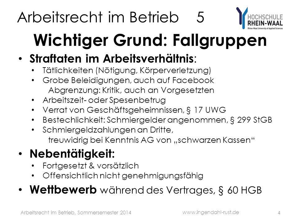 Arbeitsrecht im Betrieb 5 (12) Betriebliches Eingliederungs- Management, § 84 Abs.
