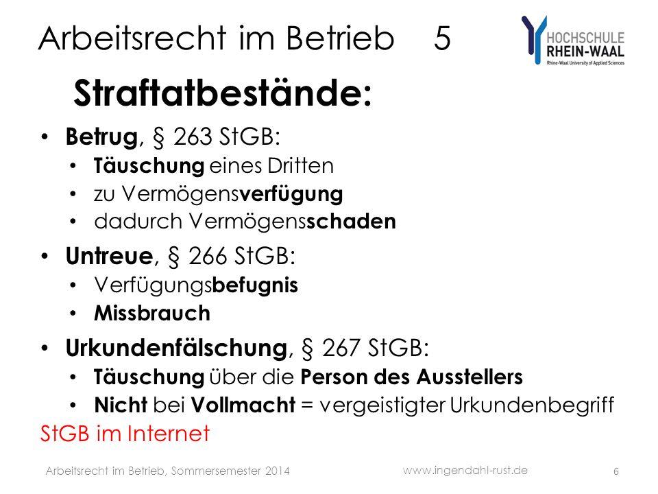 Arbeitsrecht im Betrieb 5 Sozialauswahl, § 1 Abs.