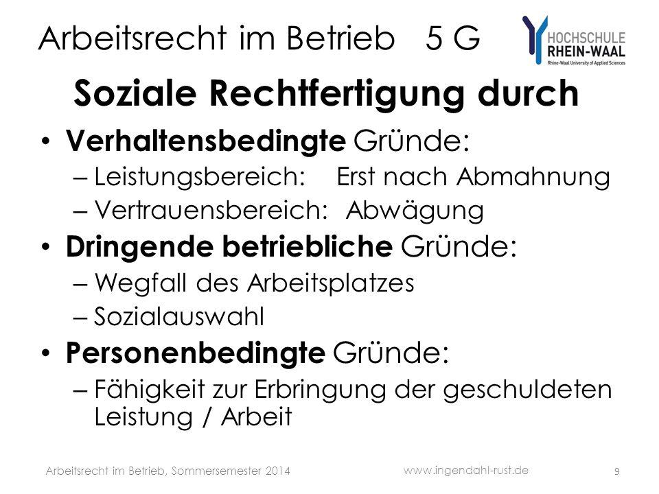 Arbeitsrecht im Betrieb 5 G Verhaltensbedingte Kündigung 1.