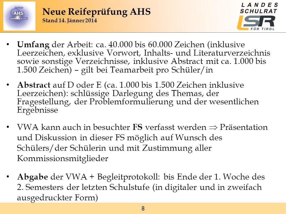 19 Neue Reifeprüfung AHS Stand 14.