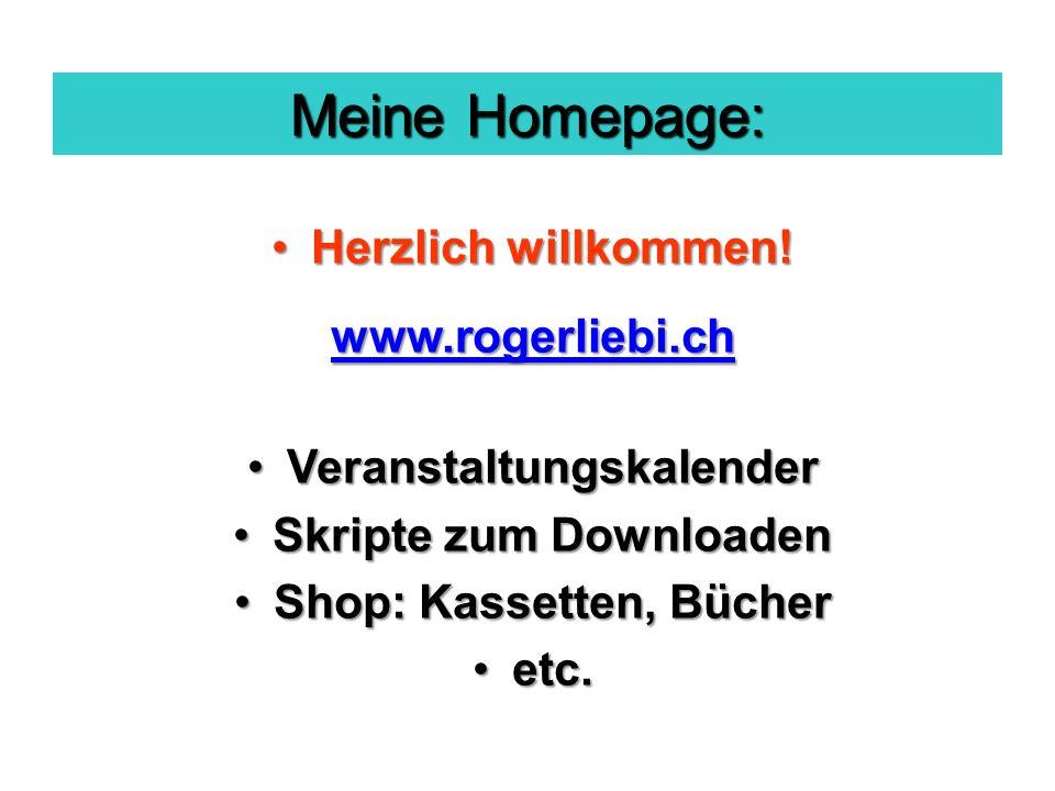 Meine Homepage: Herzlich willkommen!Herzlich willkommen.