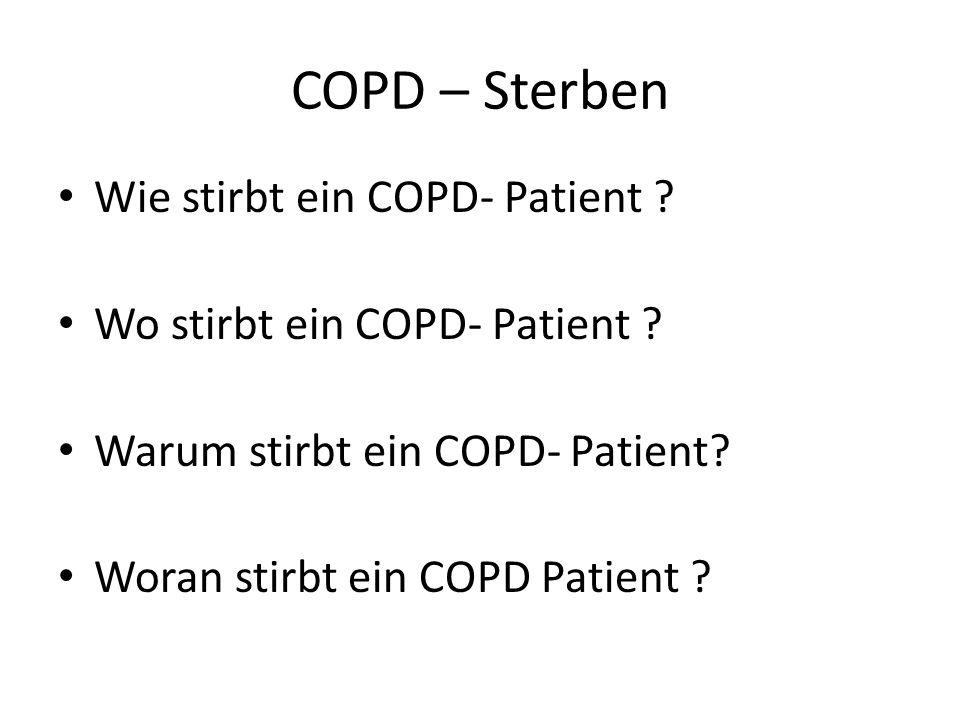 COPD – Sterben Wie stirbt ein COPD- Patient ? Wo stirbt ein COPD- Patient ? Warum stirbt ein COPD- Patient? Woran stirbt ein COPD Patient ?