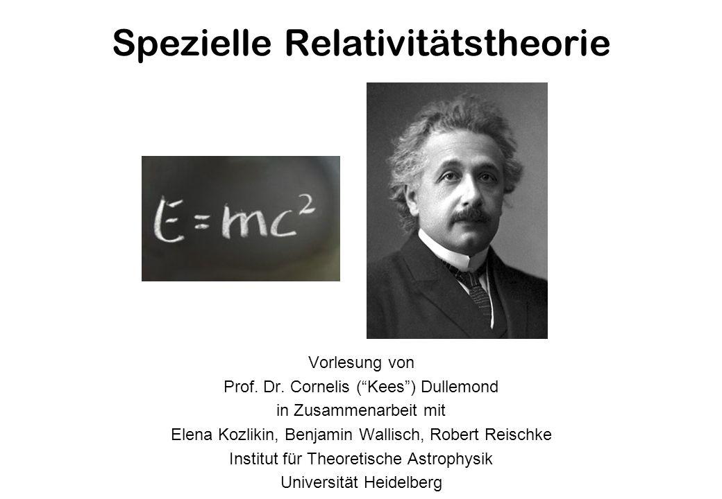 Spezielle Relativitätstheorie Vorlesung von Prof.Dr.