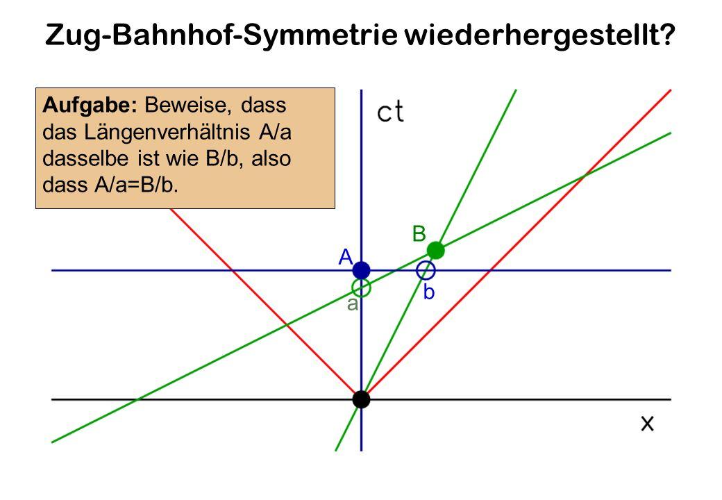 Zug-Bahnhof-Symmetrie wiederhergestellt.