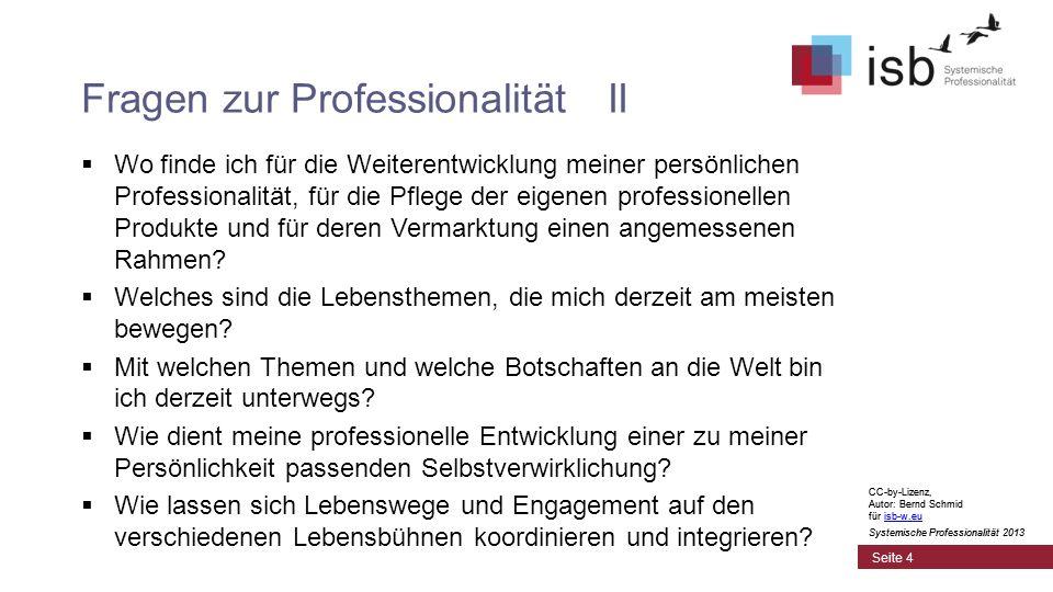 CC-by-Lizenz, Autor: Bernd Schmid für isb-w.euisb-w.eu Systemische Professionalität 2013 Seite 15 Kompetenzformel Professionelle Kompetenz Rollen- kompetenz Kontext- kompetenz Sinn CC-by-Lizenz, Autor: Bernd Schmid für isb-w.euisb-w.eu Systemische Professionalität 2013 (Passung Wenn im Dialog zu Organisation oder Markt)
