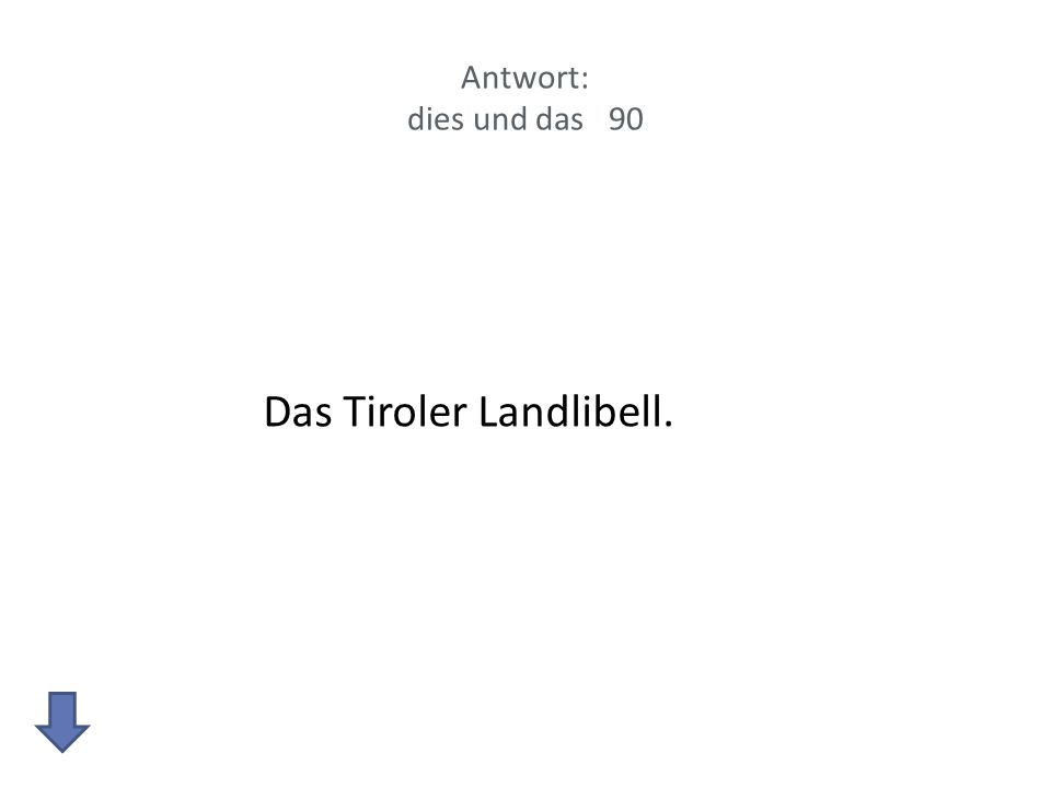 Antwort: dies und das 90 Das Tiroler Landlibell.