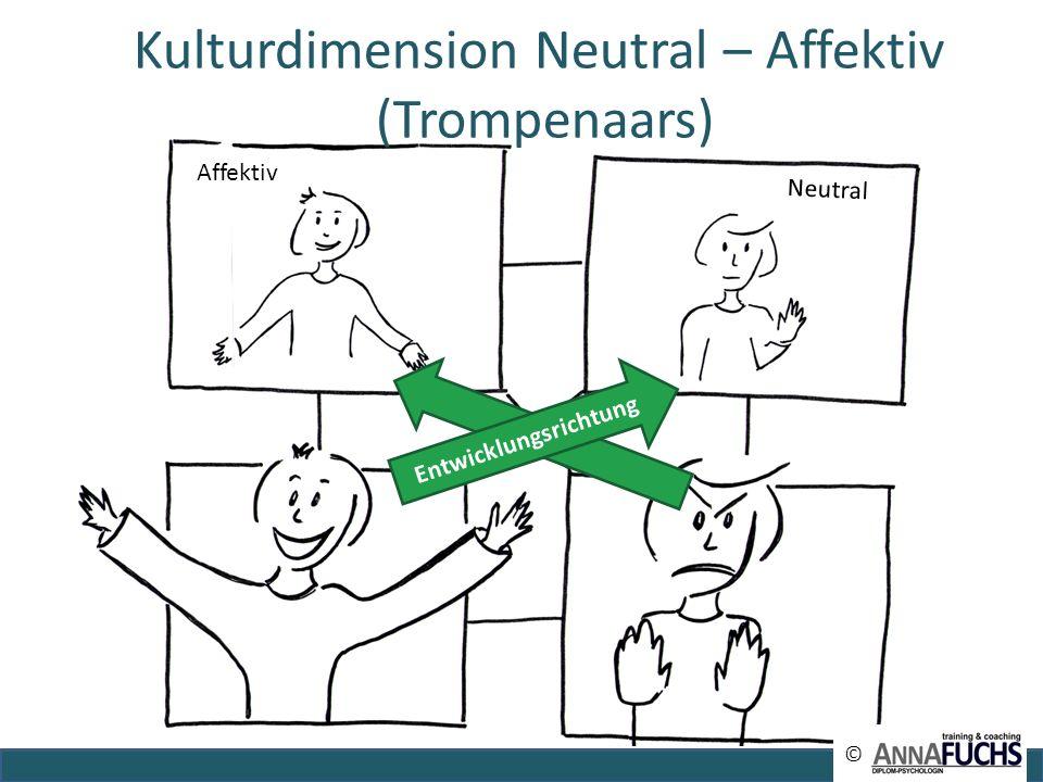 Affektiv Neutral Entwicklungsrichtung © © Kulturdimension Neutral – Affektiv (Trompenaars)