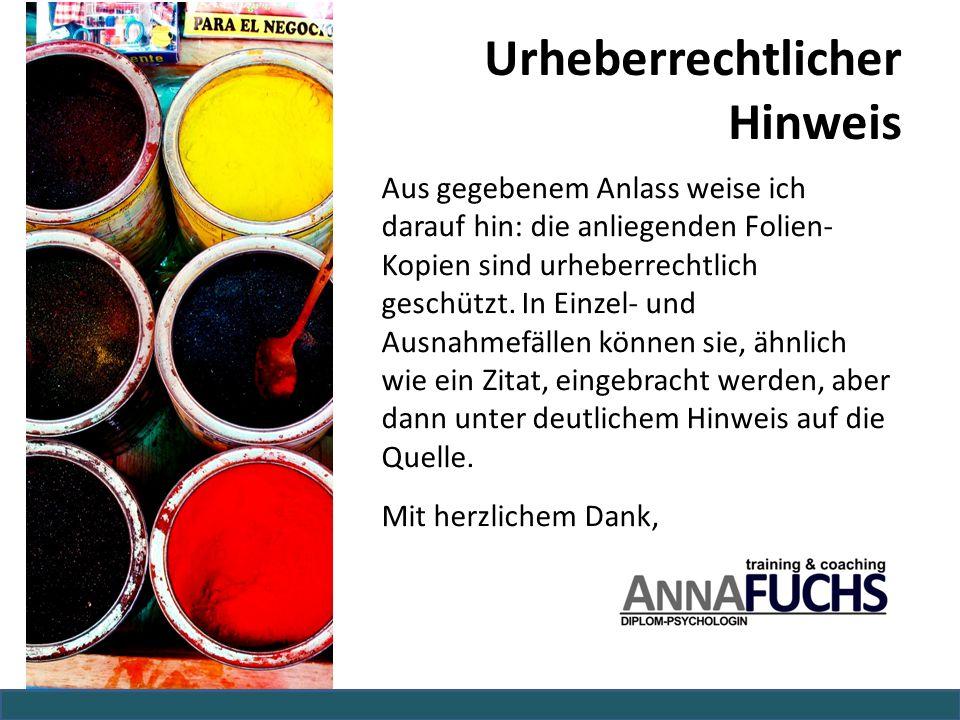 Urheberrechtlicher Hinweis Aus gegebenem Anlass weise ich darauf hin: die anliegenden Folien- Kopien sind urheberrechtlich geschützt. In Einzel- und A