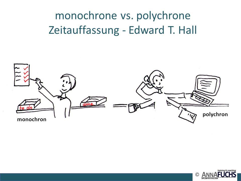 monochron polychron monochrone vs. polychrone Zeitauffassung - Edward T. Hall ©