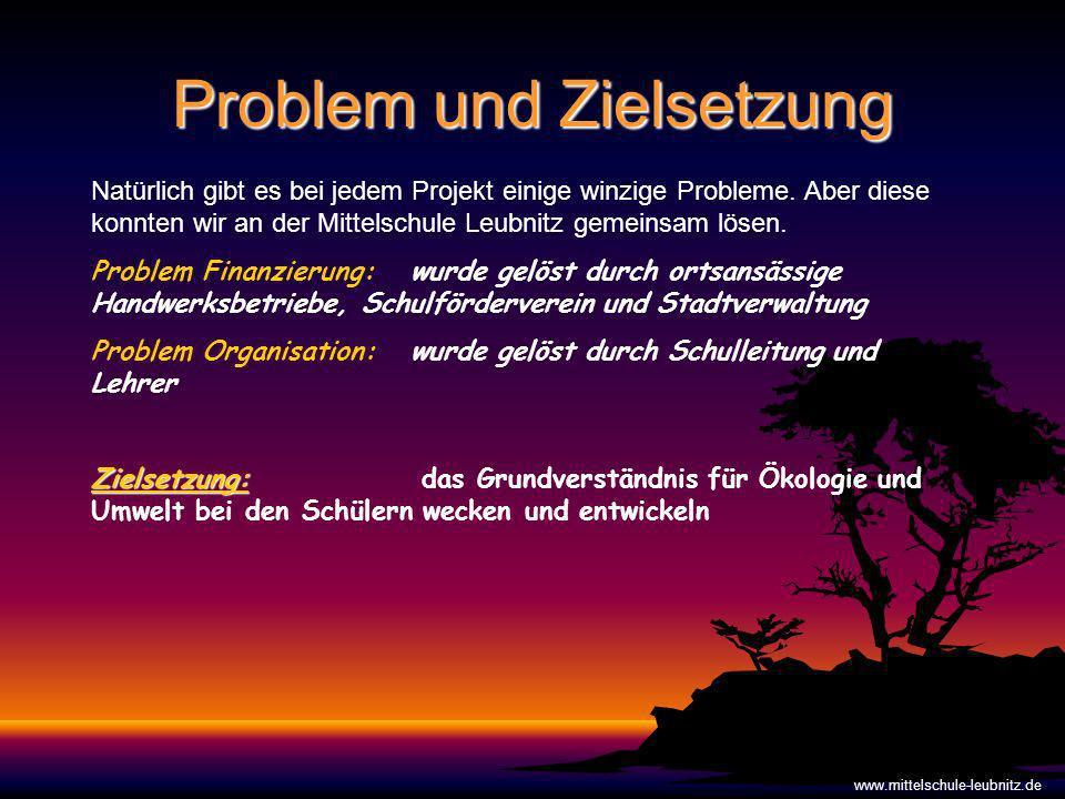 Problem und Zielsetzung www.mittelschule-leubnitz.de Natürlich gibt es bei jedem Projekt einige winzige Probleme.