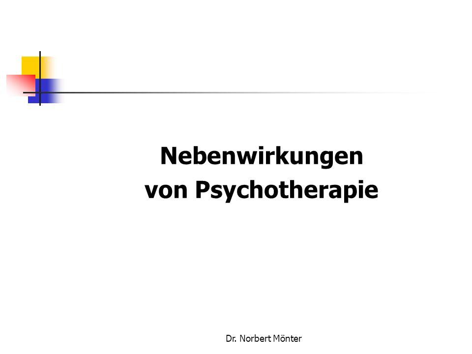 Dr. Norbert Mönter Nebenwirkungen von Psychotherapie