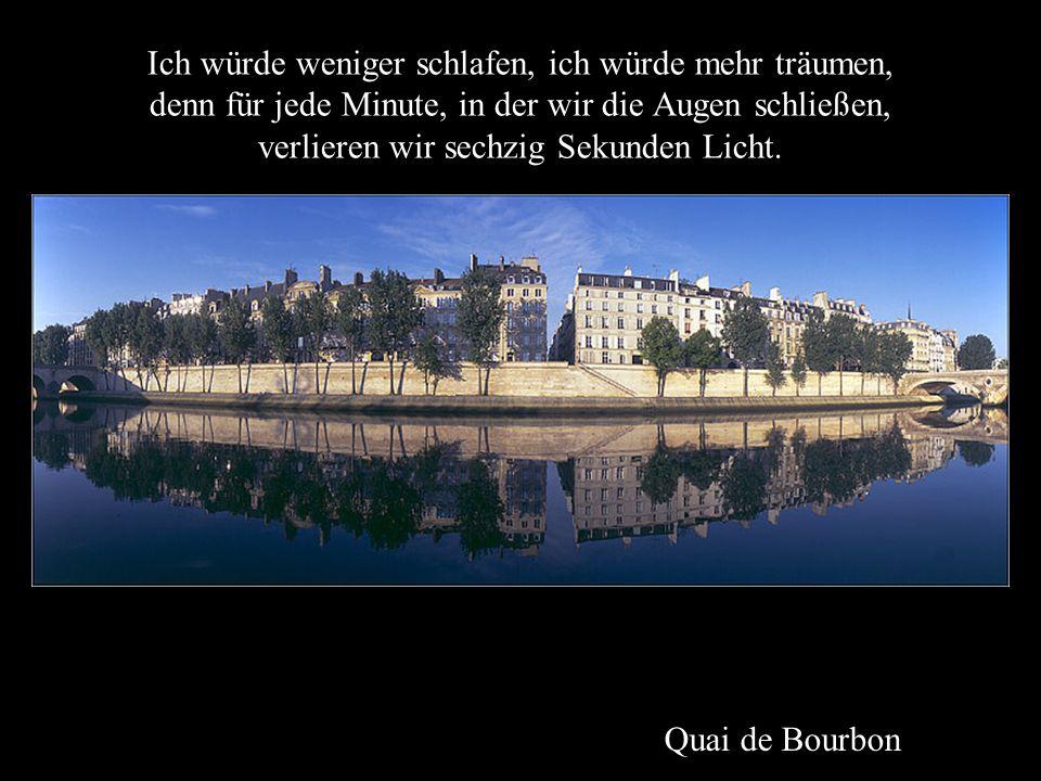 Paris, Blick vom Louvre Ich würde die Dinge bewerten, nicht dafür, was sie Wert sind, sondern dafür, was sie bedeuten.