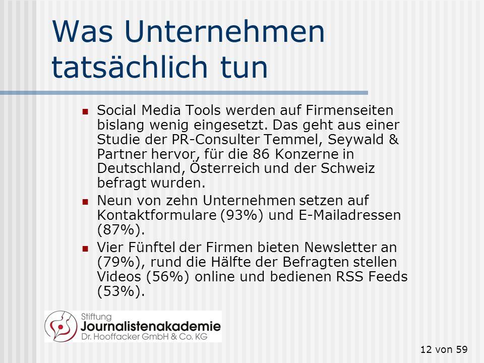 11 von 59 Was Unternehmen glauben Quelle: media-treff.demedia-treff.de