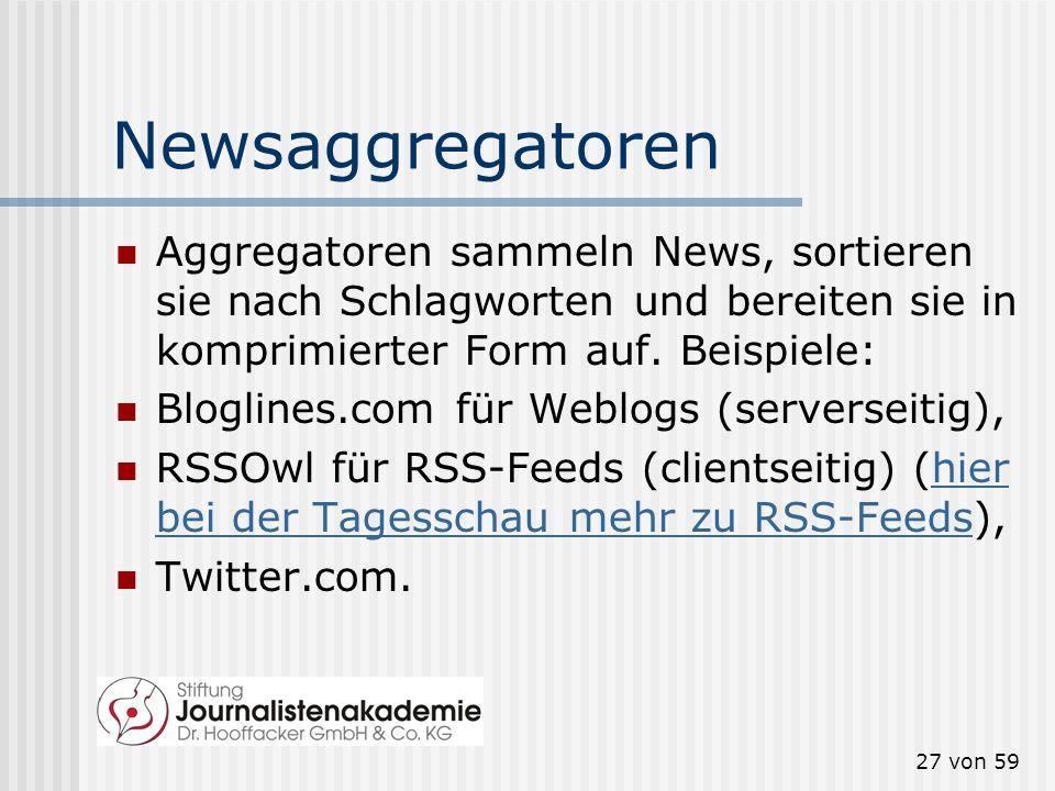 26 von 59 Aber Social Media... generieren Traffic auf Ihrer Site. helfen bei der Suchmaschinen- Optimierung (Search Engine Optimization, SEO). Zum Nac