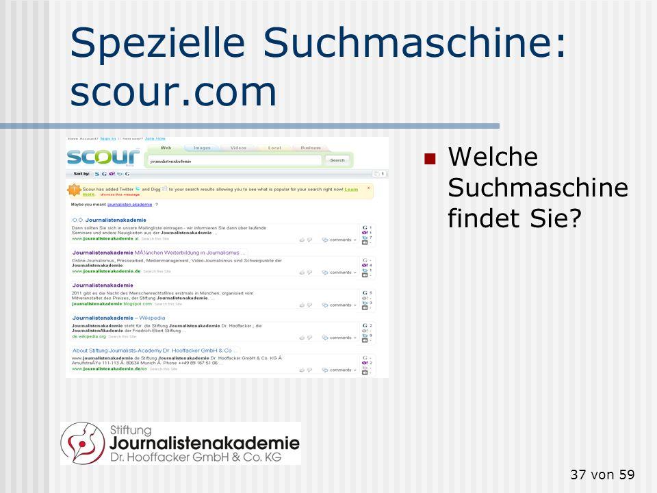 36 von 59 Spezielle Suchmaschine: technorati.com Welche Blogs, welche Tags sind top?
