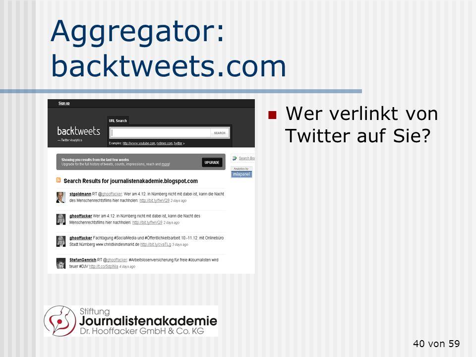 39 von 59 Aggregator: samepoint.com Welche Kommentare in Social Media gibt es über Sie? Tonalität