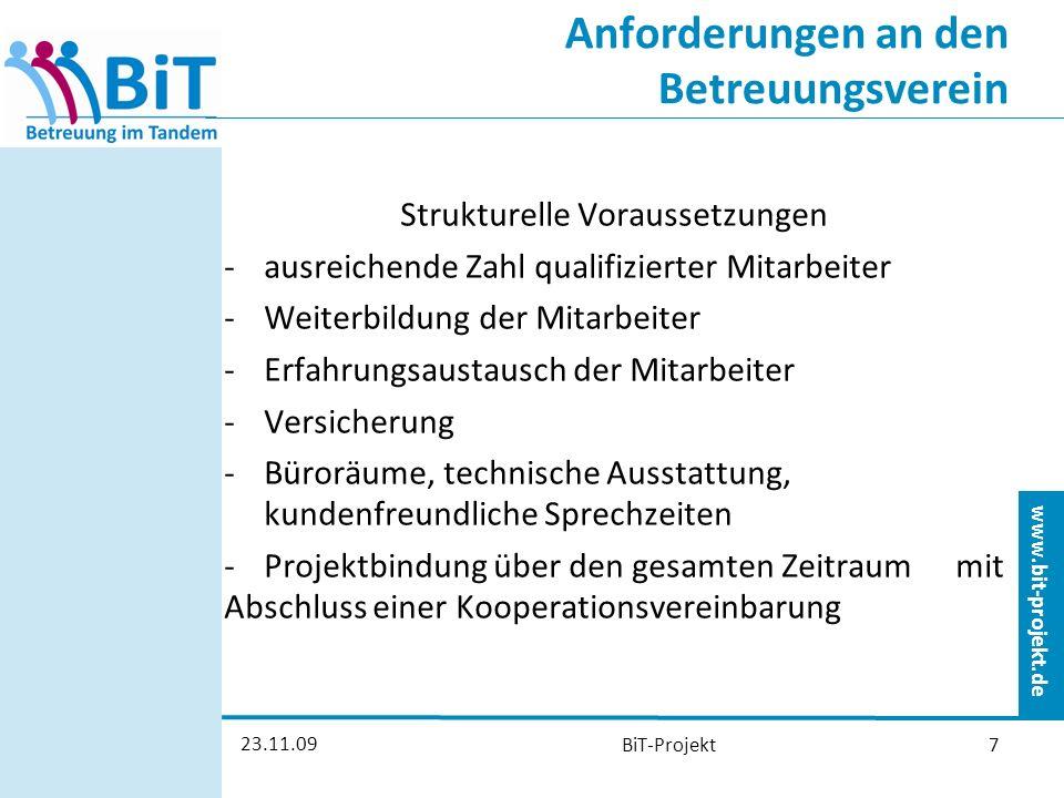 www.bit-projekt.de 23.11.09 BiT-Projekt8 Wie fangen wir an.