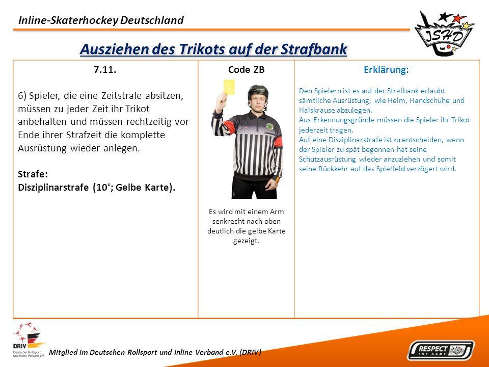 Inline-Skaterhockey Deutschland Mitglied im Deutschen Rollsport und Inline Verband e.V. (DRIV) Ausziehen des Trikots auf der Strafbank 7.11. 6) Spiele