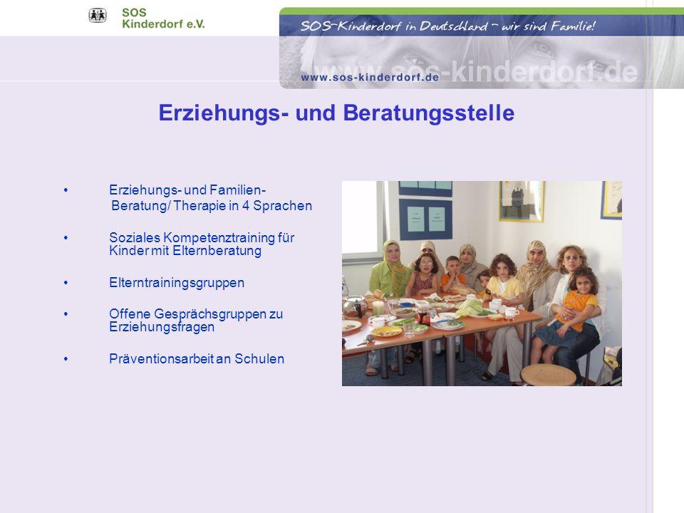 Erziehungs- und Familien- Beratung/ Therapie in 4 Sprachen Soziales Kompetenztraining für Kinder mit Elternberatung Elterntrainingsgruppen Offene Gesp