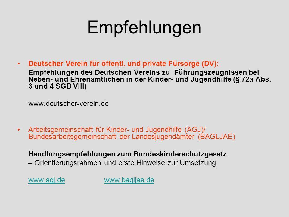 Empfehlungen Deutscher Verein für öffentl.