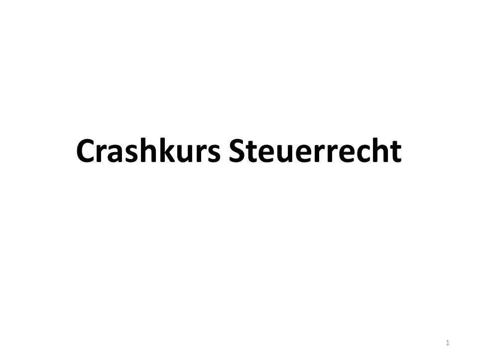 Crashkurs Steuerrecht 1