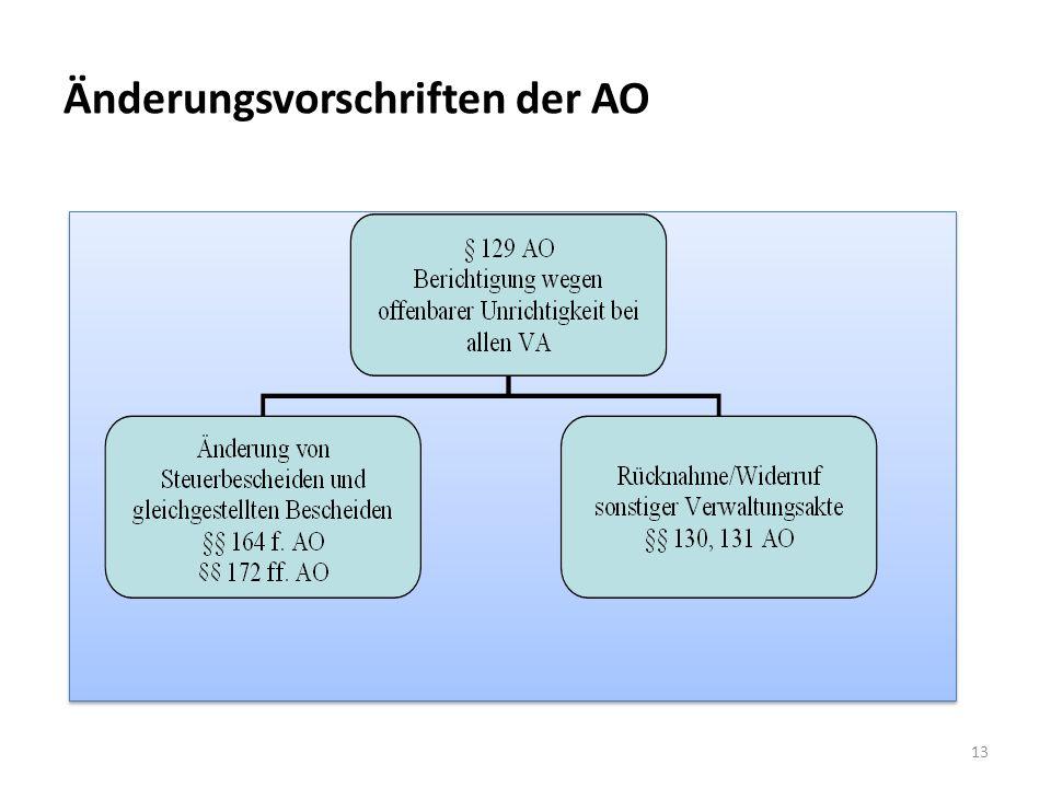 Änderungsvorschriften der AO 13
