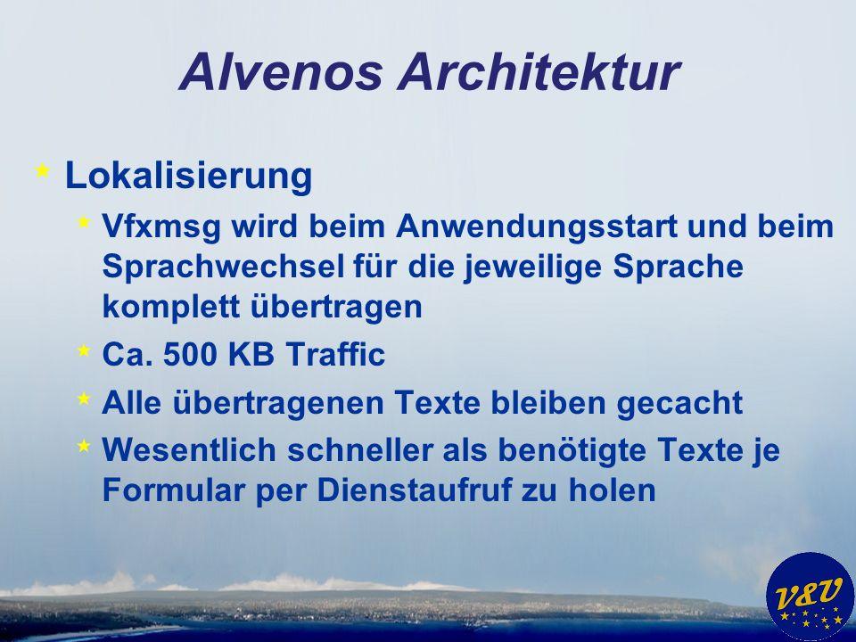 Alvenos Architektur * Lokalisierung * Vfxmsg wird beim Anwendungsstart und beim Sprachwechsel für die jeweilige Sprache komplett übertragen * Ca. 500