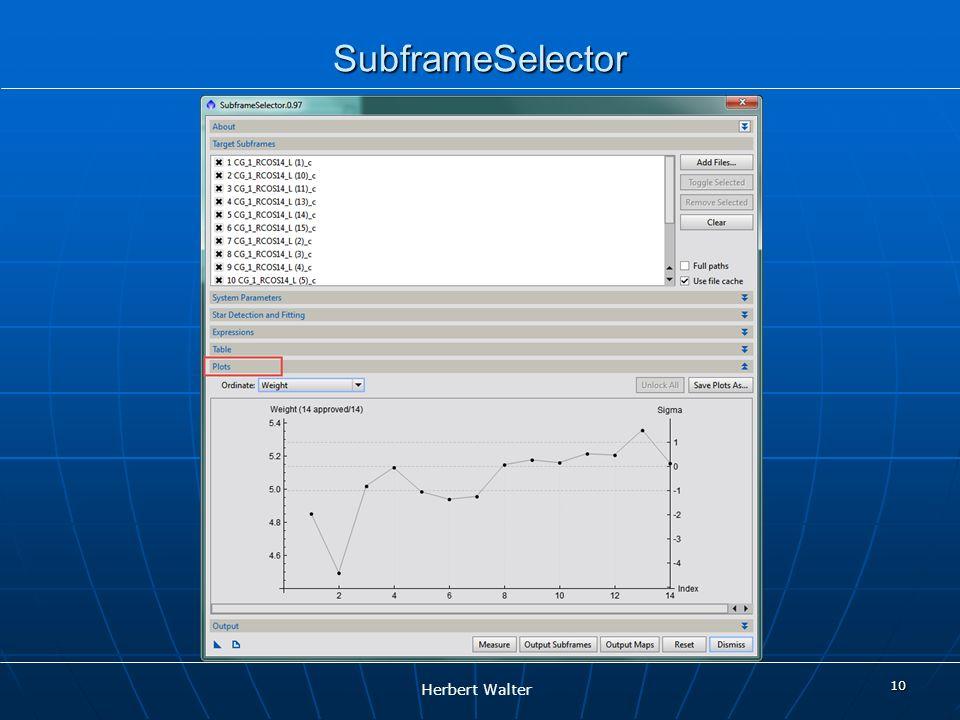 SubframeSelector 10