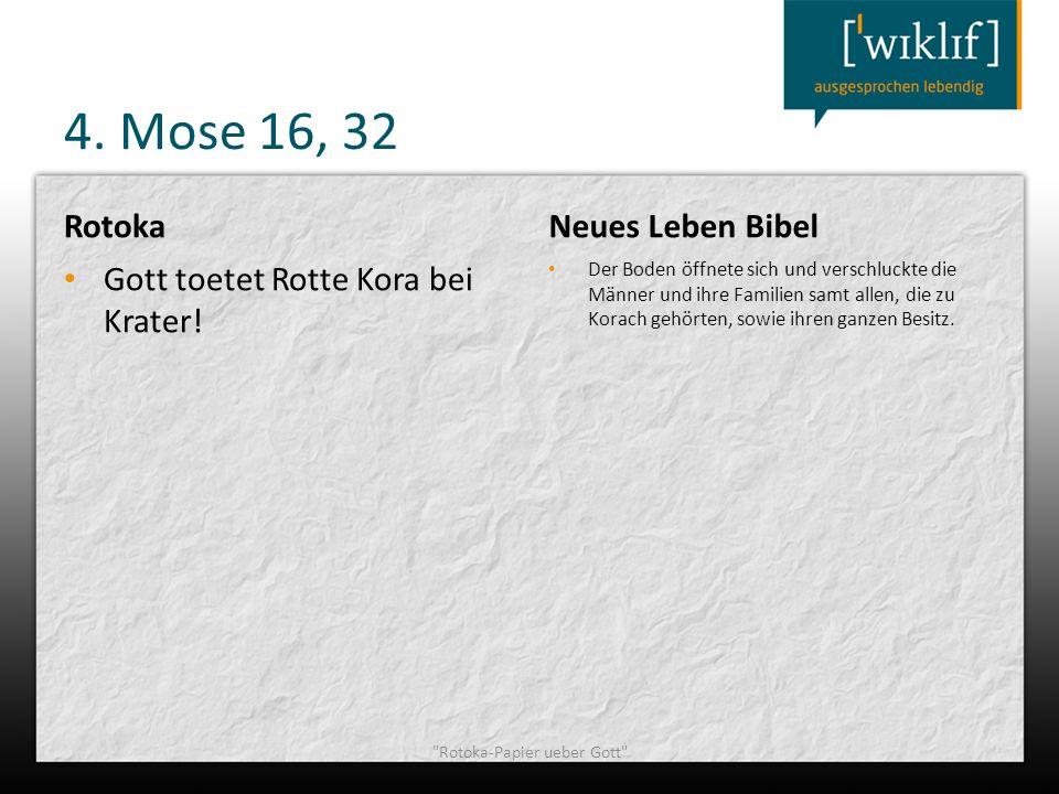 4. Mose 16, 32 Rotoka Gott toetet Rotte Kora bei Krater! Neues Leben Bibel Der Boden öffnete sich und verschluckte die Männer und ihre Familien samt a