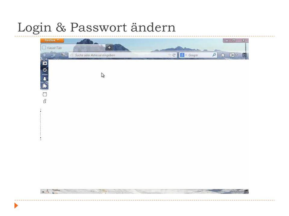 Login & Passwort ändern