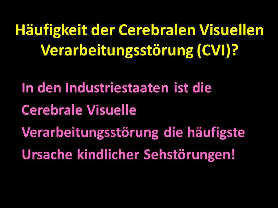Häufigkeit der Cerebralen Visuellen Verarbeitungsstörung (CVI)? In den Industriestaaten ist die Cerebrale Visuelle Verarbeitungsstörung die häufigste
