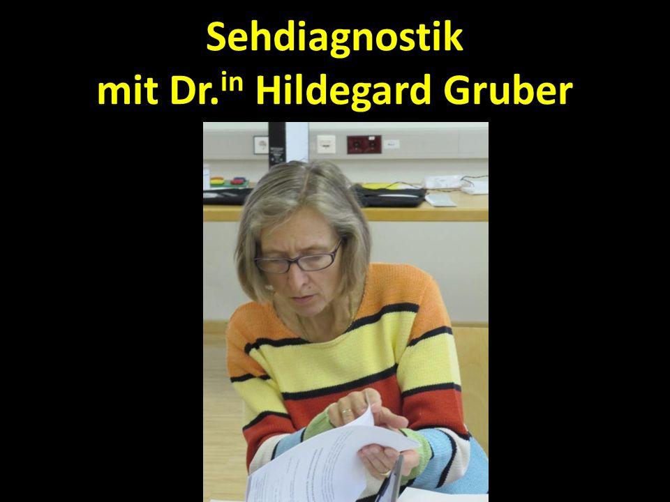 Sehdiagnostik mit Dr. in Hildegard Gruber