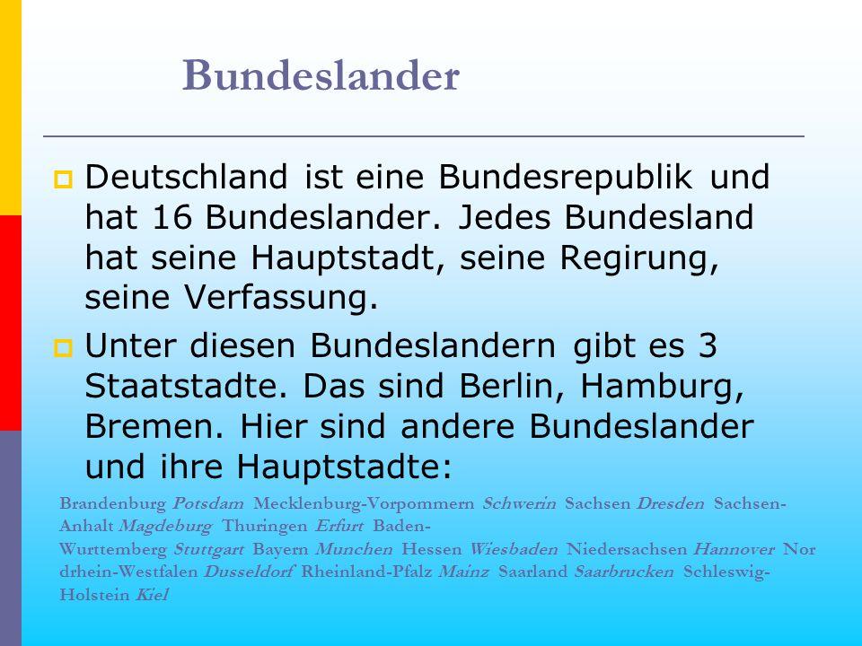 Berlin ist die Hauptstadt der BRD.Berlin liegt an der Spree.