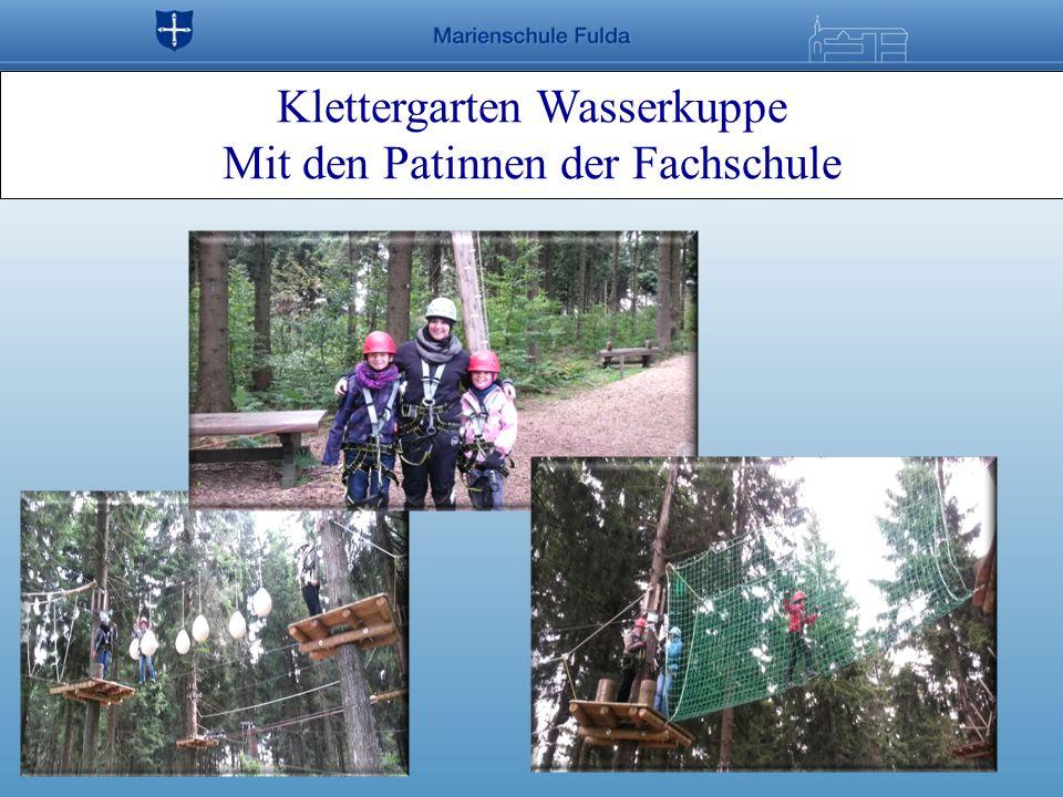 Klettergarten Wasserkuppe Mit den Patinnen der Fachschule