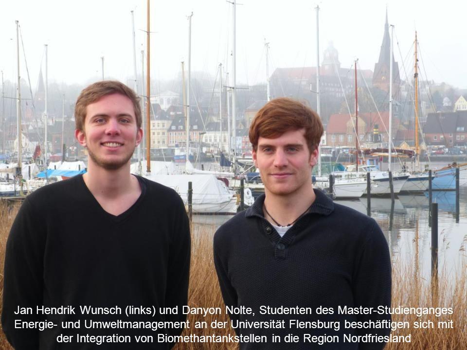 12 3. Kurze Projektübersicht Nutzungskonzept Biomethan www.bioenergieregion-nf-nord.de Jan Hendrik Wunsch (links) und Danyon Nolte, Studenten des Mast