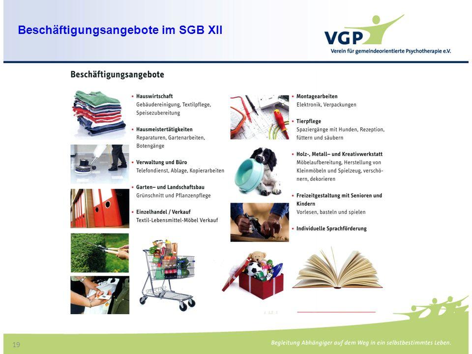 19 Beschäftigungsangebote im SGB XII