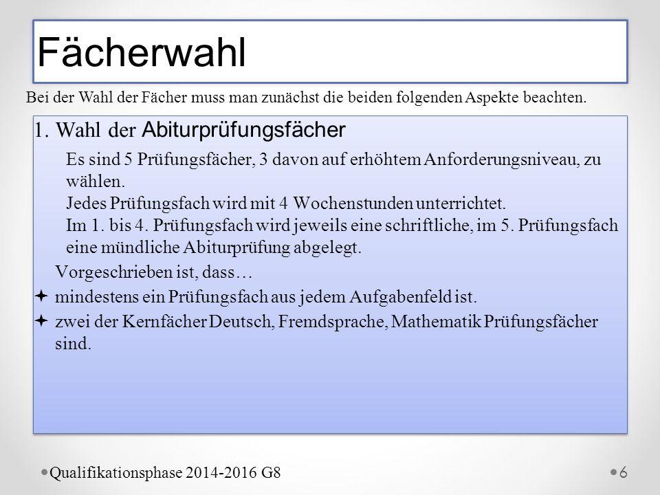 Der Wahlbogen 16 Qualifikationsphase 2012- 2014 G8