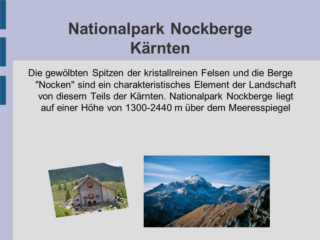 Nationalpark Nockberge Kärnten Die gewölbten Spitzen der kristallreinen Felsen und die Berge